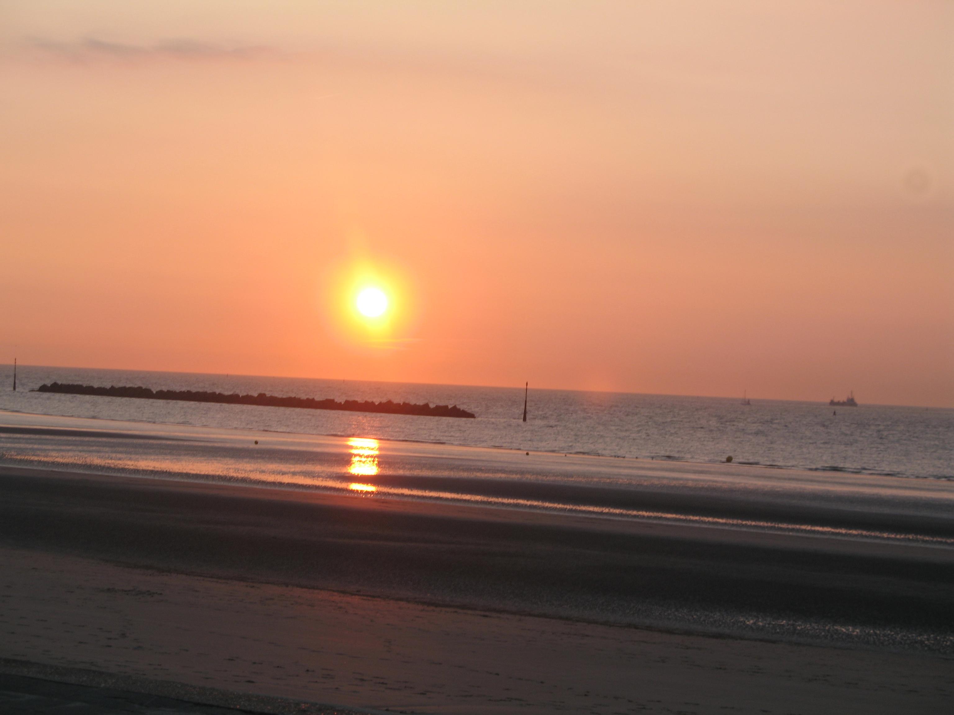 Coucher de soleil à Malo les bains
